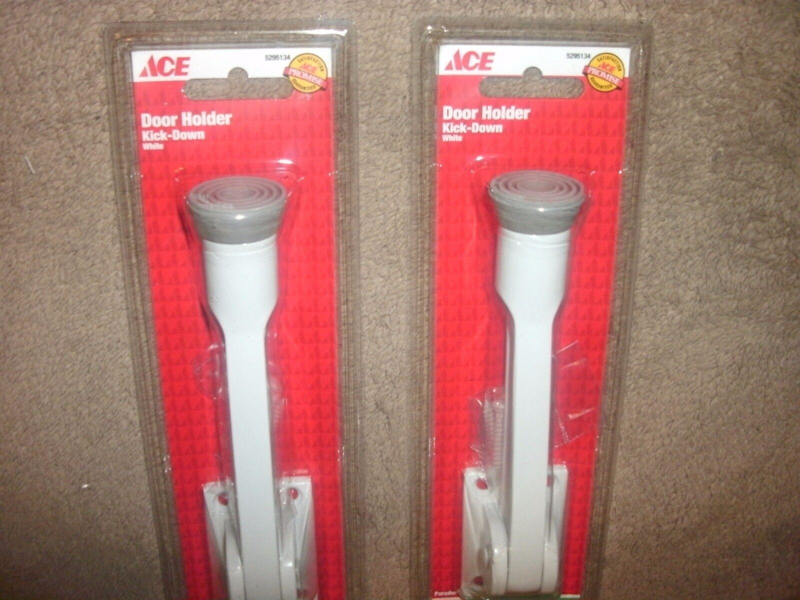 "B88 NEW ACE Hardware White 5/"" KICK-DOWN DOOR HOLDER"