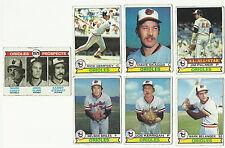 VINTAGE 1979 TOPPS BASEBALL CARDS – BALTIMORE ORIOLES - MLB