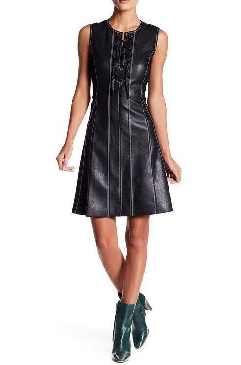 Nouveau BCBG MAX AZRIA JOLEE sans manches en simili cuir robe RPY61M52 Größe  M, L  248.00