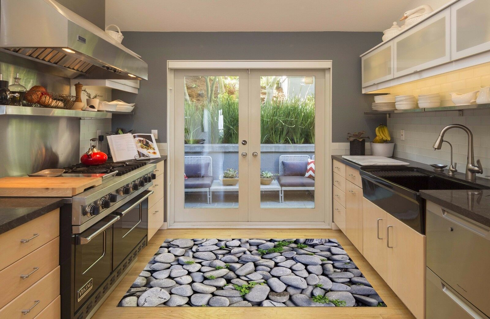 3D Grass Stone 80 Kitchen Mat Floor Murals Wall Print Wall AJ WALLPAPER AU Carly