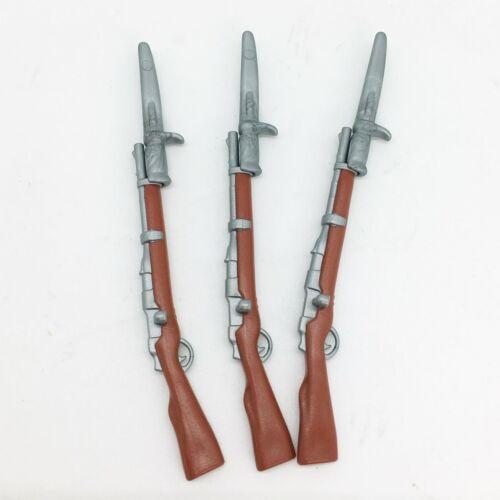 Playmobil 3 fusils baïonnettes style anglais