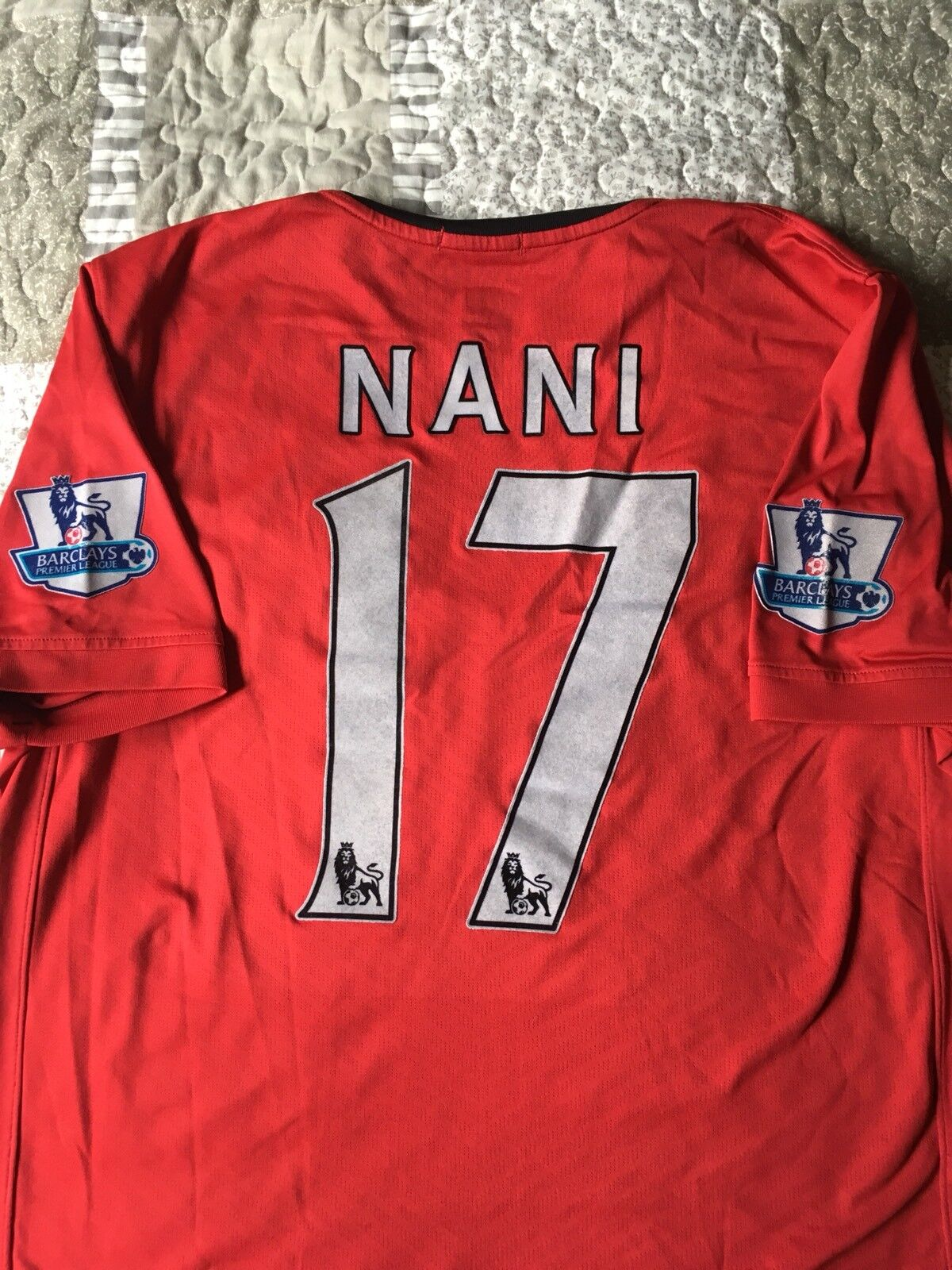 NANI 17 MANCHESTER UNITED 2009 10 MAGLIA SHIRT WORN ISSUED MATCH GAME L Ronaldo