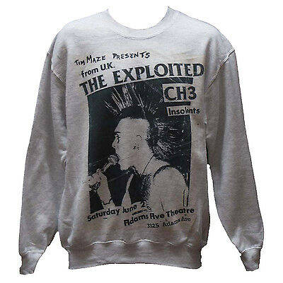 The Exploited Sweatshirt Crass Bad Religion Uk Subs Punk Rock Flyer ALL SIZES