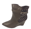 thumbnail 1 - Womens Ladies Coffee Faux Leather High Wedge Heel Shoes Ankle Boots Size 8 New