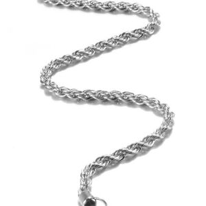 Women-925-Silver-Plated-4mm-16-30-034-Necklace-Rope-Chain-Twist-For-Jewelry
