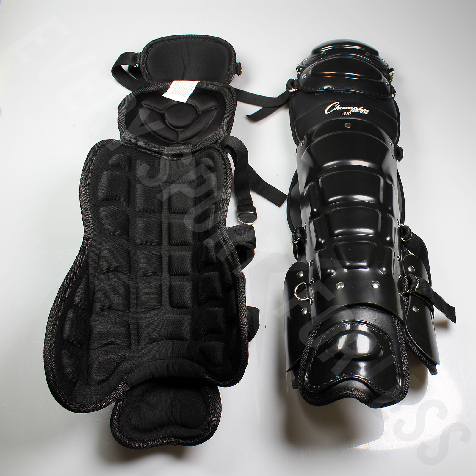 Champion Pro Style Umpire's Umpire's Umpire's Leg Guards 15-18  Adjustable LG87 (NEW) b12d51
