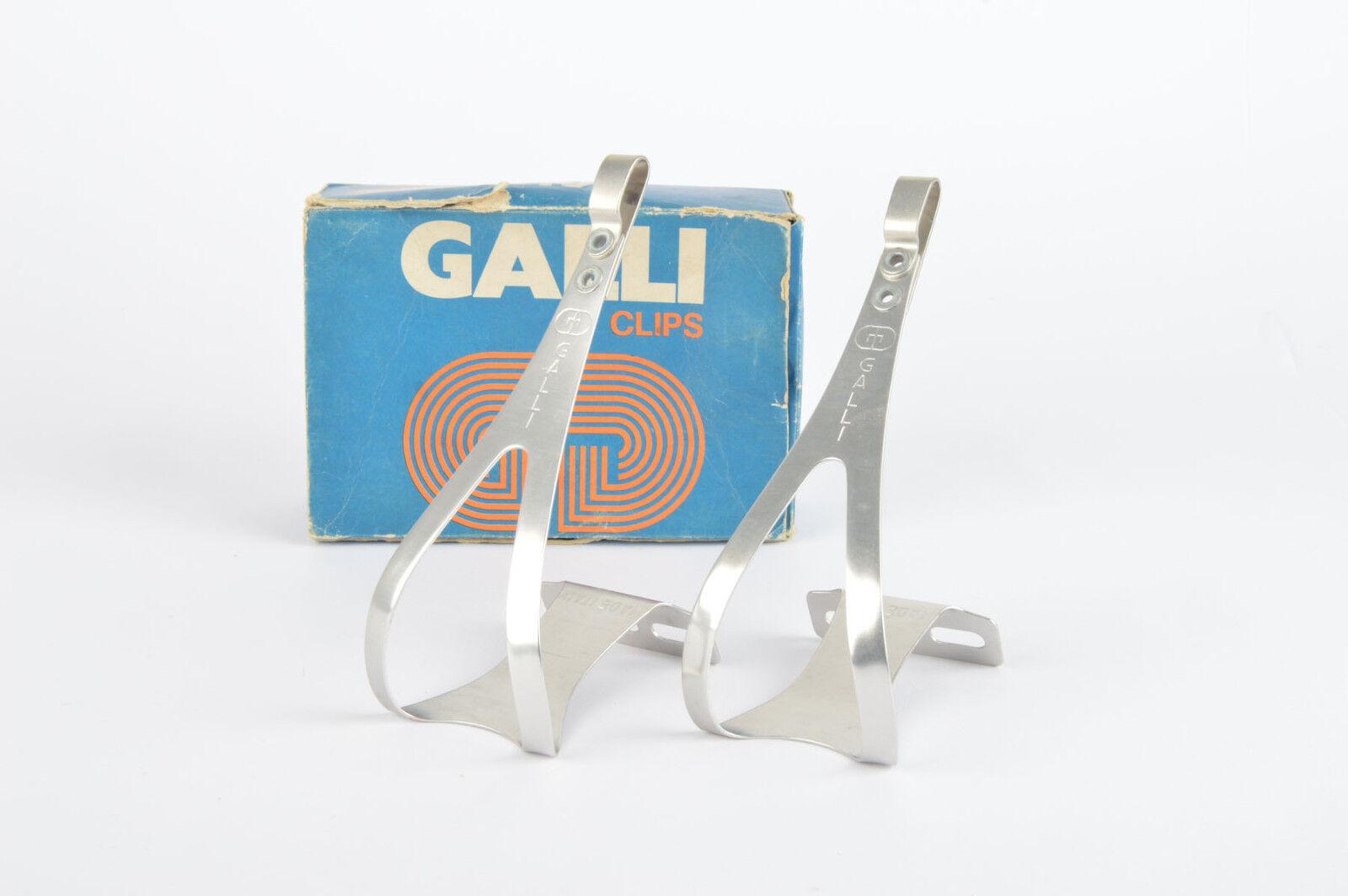 NOS NIB Galli Galli Galli super light Alloy toe clip set 433182