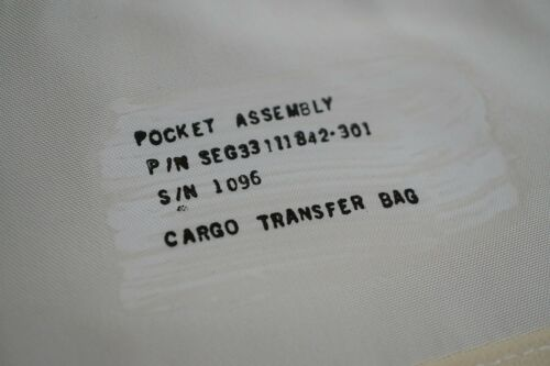 Rare NASA Space Shuttle Cargo Transfer Bag Pocket Assembly JSC NASA001