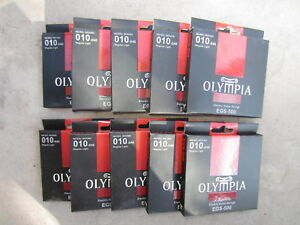10 Sets-olympia Elecrtic-cordes Pour Guitare, Nickel Wound, Egs-500, 10-46 Ga.-r Strings, Nickel Wound, Egs-500, 10-46 Ga. Fr-fr Afficher Le Titre D'origine
