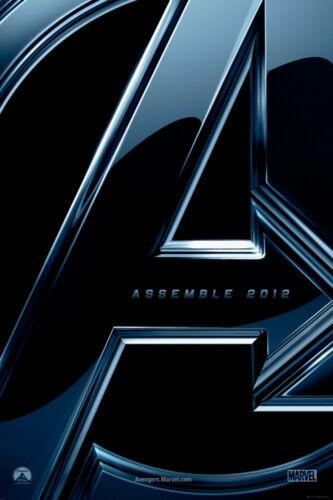 NEW THE AVENGERS TEASER A ASSEMBLE ORIGINAL CINEMA MOVIE PRINT PREMIUM POSTER