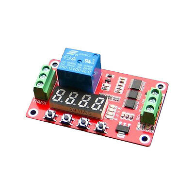 Multifunction 12V DC Self-lock Relay PLC Cycle Delay Time Timer Switch Module
