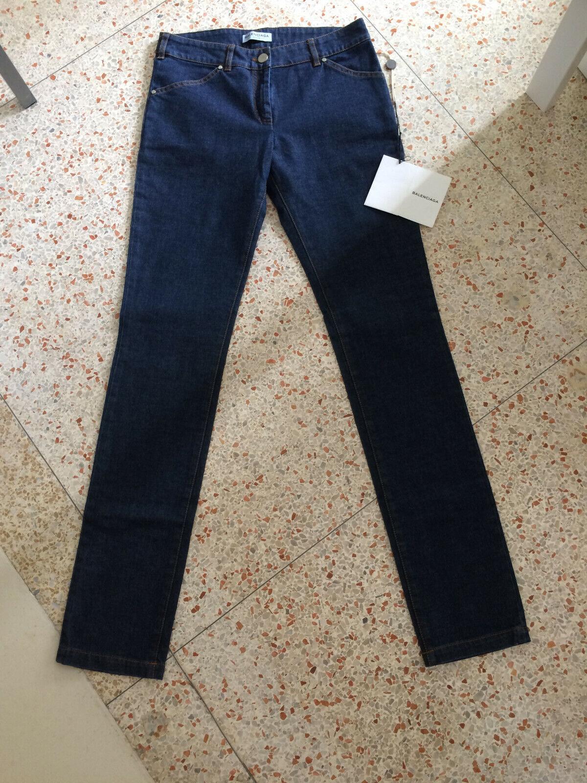 NWT - BALENCIAGA Skinny leg dark Jeans Sz FR36 US4