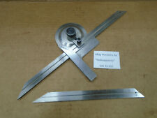 Bevel Protractor For Machinist Toolmaker Woodworker With 8 Amp 12 Blades D132