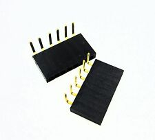 20pcs 1x6 Pin 254mm Right Angle Single Row Female Pin Header Connector