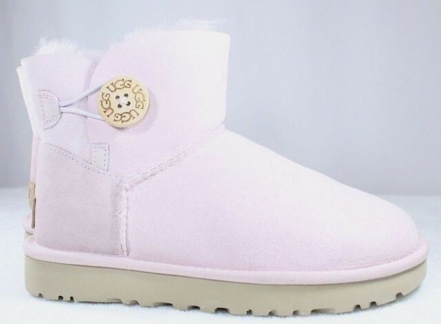bafe86c27fb UGG Mini Bailey Button II BOOTS 1016422 Seashell Pink NWB Women's Shoes  Size 5