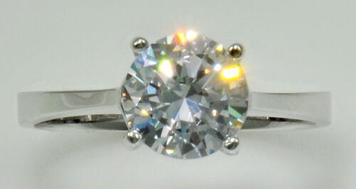 1 ct Ring Extra Brilliant CZ Imitation Moissanite simulant  S Silver Size 8.5