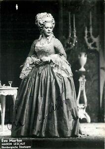 Opera - Autografo del soprano Eva Marton (Budapest, 1943)