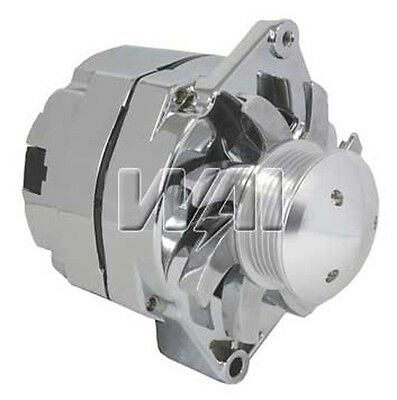 100/% NEW ALTERNATOR FOR CHEVY HOLDEN GM HOTROD CHROME BILLET ONE WIRE 10SI 110A