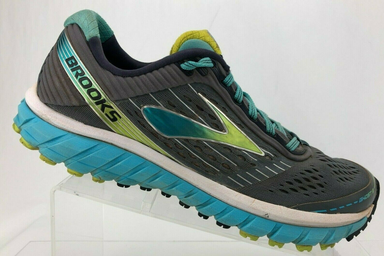 Brooks Ghost 9 Running shoes shoes shoes Grey bluee Training Athletic Sneakers Womens 9.5 B c21d50
