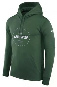 sale retailer 19fda 44045 Details about Nike Men's New York Jets Therma Property Of Hoodie Sweatshirt  Large L NFL