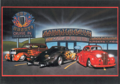 Hot and Fast Darryl Makenzie Garage Man Cave Automotive Retro Metal Sign