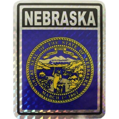 State of Nebraska Flag Reflective Decal Bumper Sticker