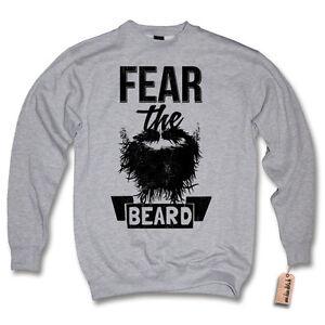 Pullover -  FEAR THE BEARD - Retro Vintage Bart Sweater Sweatshirt S M L XL XXL
