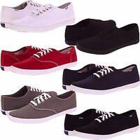 Mens Keds Originals Champion Cvo Canvas Casual Shoes White Black Red Sizes 8-13