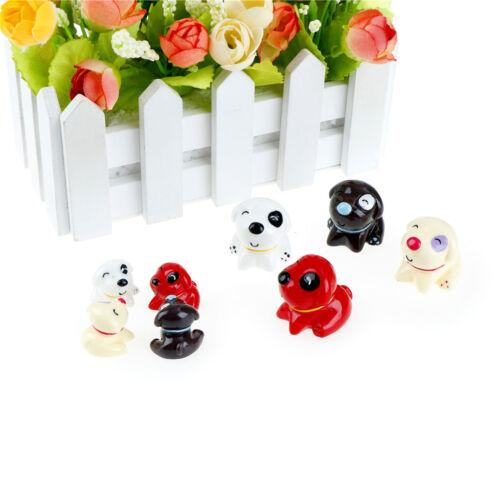 4Pcs Puppy Miniature For Fairy Garden Gnomes Moss Terrariums Decoration NiceTDCA