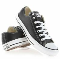 Original Adult *Converse - All Star* Leather Shoes Black Ox UK 3 to 11 Unisex!