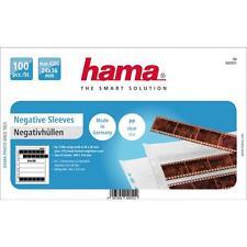 HAMA 100 POLYPROPYLENE NEGATIVE SLEEVES 7 STRIPS OF 6 NEGATIVES 24X36MM 2051