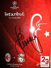 SIGNED LIVERPOOL v AC MILAN PROGRAMME ISTANBUL 2005 BY JAMIE CARRAGHER BRAND NEW