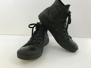 f4f49e6966a4 Converse Black LEATHER Chuck Taylor All Star High Tops Men s 5 Or ...