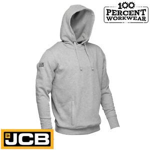 JCB-Work-Wear-Essential-Grey-Hooded-Top-Hoodie-Hoody-Sweatshirt-Trade-Tradesman
