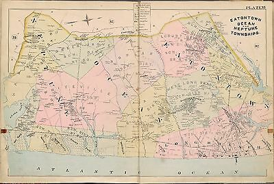 24x36 Vintage Reproduction Historic Map Newark New Jersey 1874 Essex County