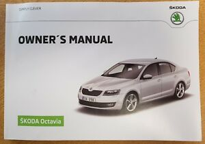 genuine skoda octavia handbook owners manual 2012 2017 book b 757 ebay rh ebay co uk skoda superb owners manual 2017 skoda superb owners manual pdf
