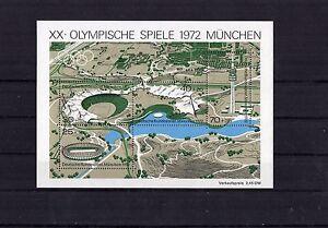 BRD-Block-7-Olympische-Spiele-1972-Muenchen-Postfrisch