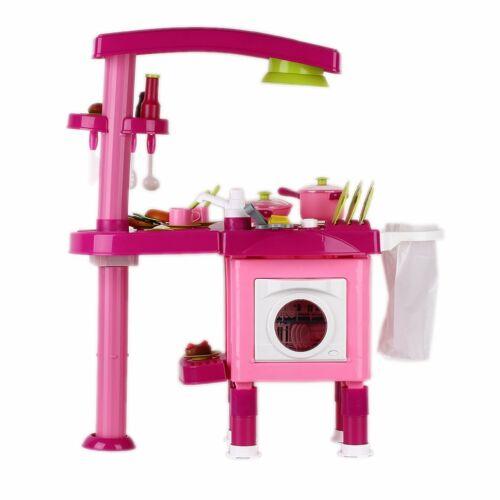Cucina per Bambini Giocattolo Cucina Gioco in Legno Giocare Educazione Baby Rosa
