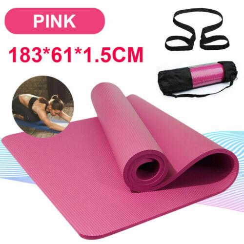 Rosa Yogamatte Gymnastikmatte Fitnessmatte Turnmatte Pilates Fitness Yoga Mat DE