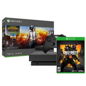 Xbox One X 1TB PUBG Console Bundle + Call of Duty: Black...