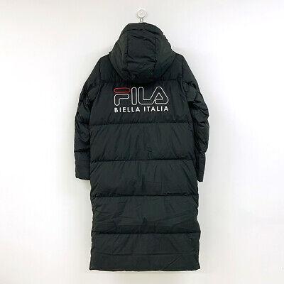 FILA Womens ACE LONG GOOSE DOWN JACKET PARKA BLACK FS2DJB4003X XS XXL TAKSE | eBay