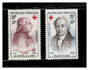 s23379-FRANCE-1959-MNH-Nuovi-Red-Cross-2v-Y-amp-T-1226-27