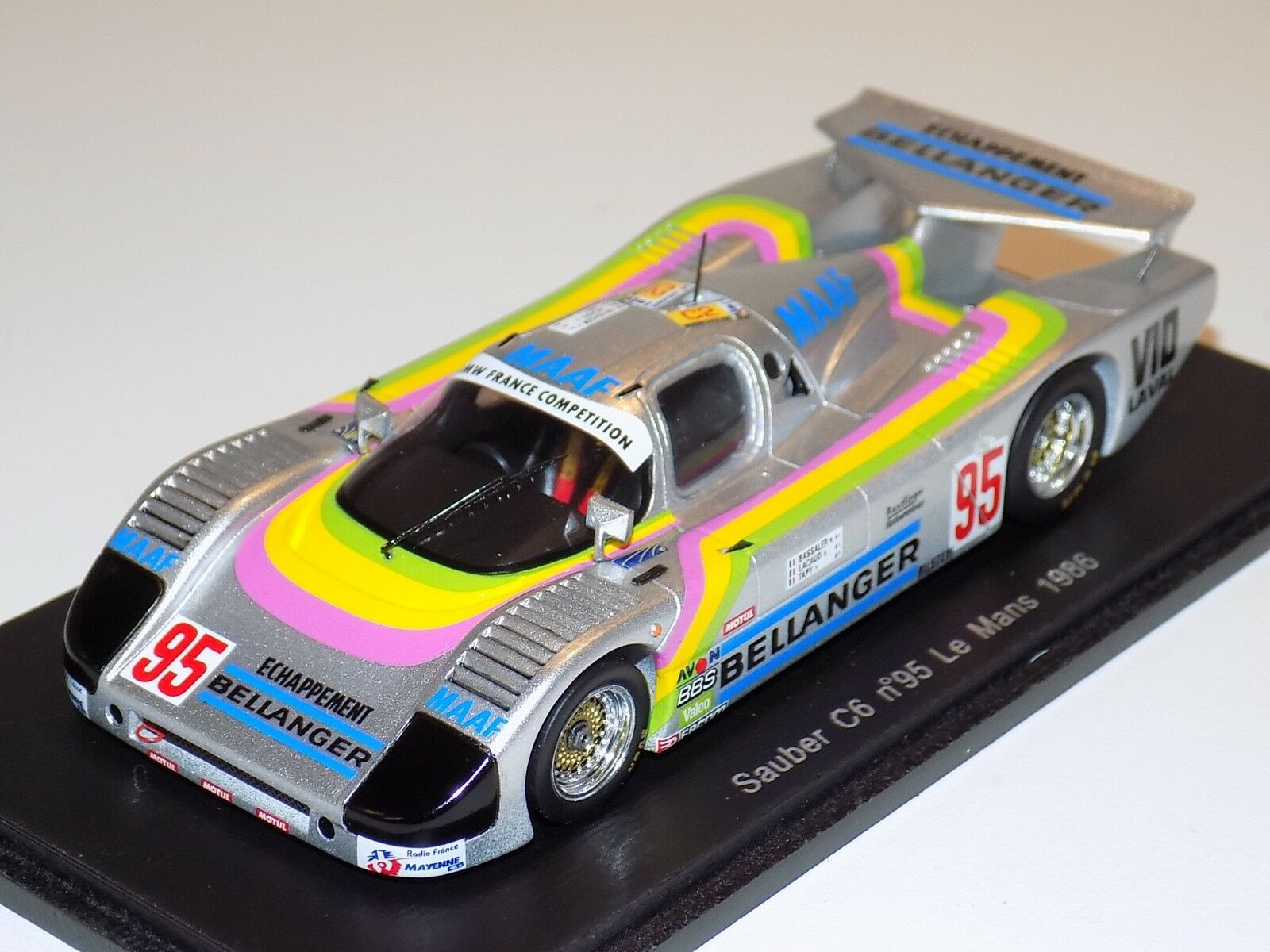 1/43 Spark Sauber Sauber Sauber C6  car  6 1986 24 Hours of LeMans S4081 8f011e