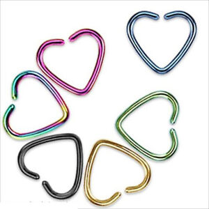 1Pcs-Heart-Stainless-Steel-Cartilage-Septum-Ear-Tragus-No-Piercing-Fake-Clip-On