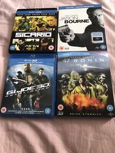 3D-Blu-Ray-Bundle-X-4-Sicario-G-I-Joe-Retaliation-47-Ronin-Jason-Bourne-VGC