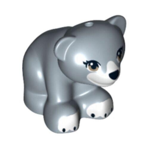 Sand Blue LEGO Brown Eyes Bear Cub White Paws /& Mouth Black Nose Animal