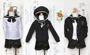 1//4 BJD msd boy doll black school uniform clothes outfit Set dollfie Luts