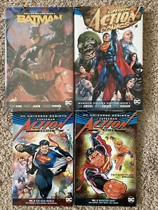 Batman Superman Rebirth Graphic Novel Lot Deluxe HC Vol 1 4 5 TPB Action Comics
