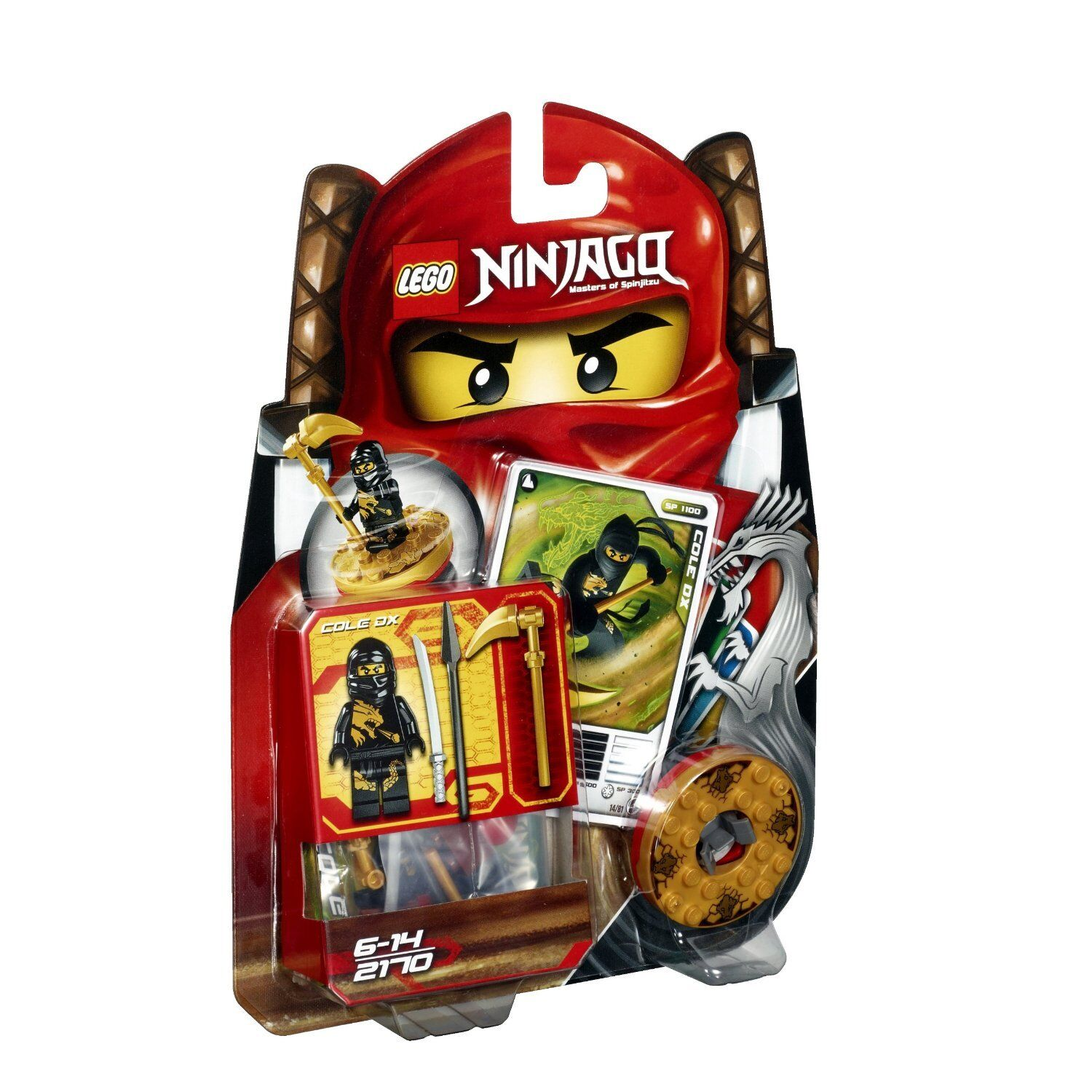 LEGO Ninjago 2170 Cole DX blacker Ninja Spinjitzu Spinner Figur