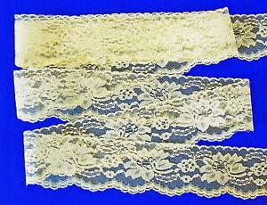 Amarillo-7-6cm-Ancho-Floral-Plano-Ribete-de-Encaje-por-9-1m